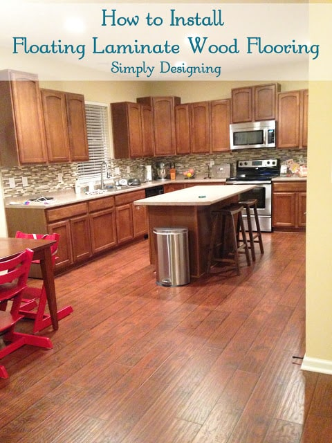 Laminate Wood Flooring In Kitchen And Bathroom