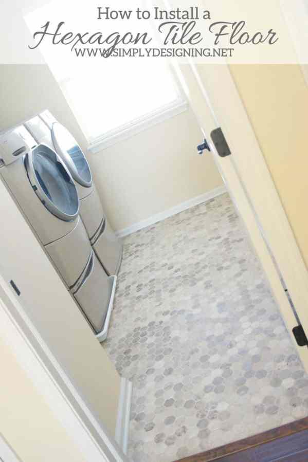Hexagon Laundry Room Tile #thetileshop @thetileshop