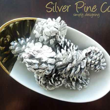 Silver Pine Cones {West Elm Knock-Off} {Silver and Gold Blog Series}