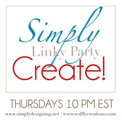 Simply Create Link Party {19} + Features