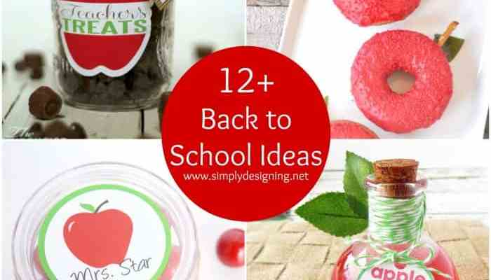 12+ Back to School Ideas