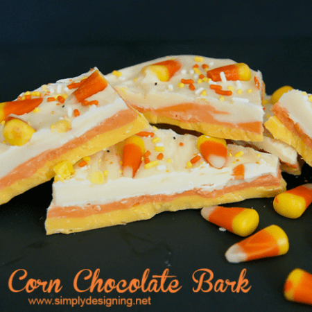 Candy Corn Chocolate Bark