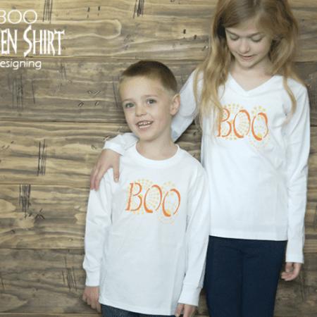 DIY Boo Halloween Shirt