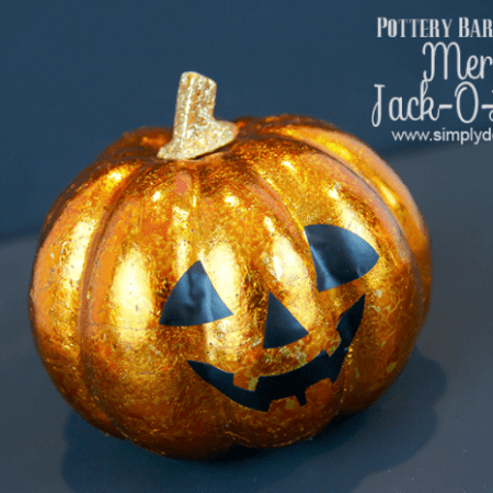 Mercury Jack-O-Lantern {Pottery Barn Knock-Off}