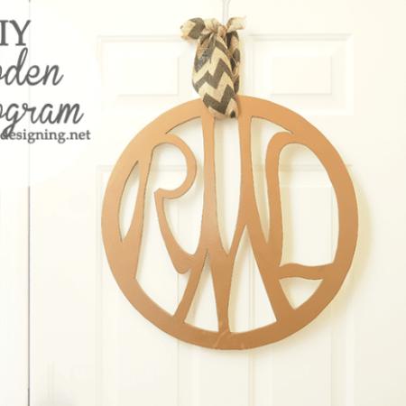 DIY Wooden Monogram