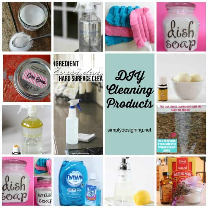 DIY Cleaning Products Collage