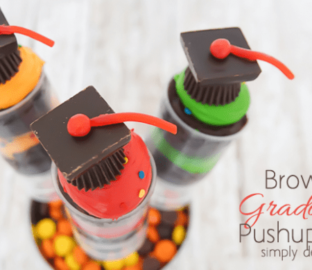 Brownie Graduation Pushup Pops