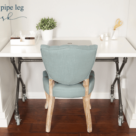 DIY Industrial Pipe Leg Desk : Craft Room : Part 7