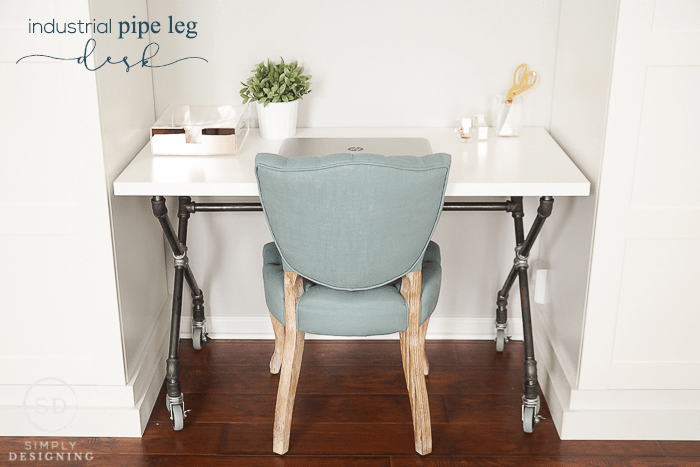 DIY Industrial Pipe Leg Desk : Craft Room : Part 7