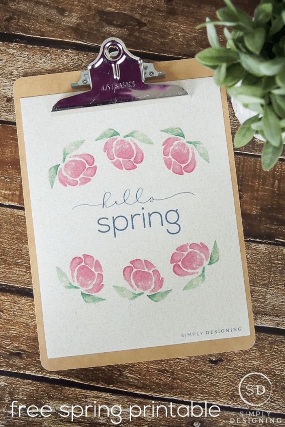 hello spring printable - a free spring printable for your home