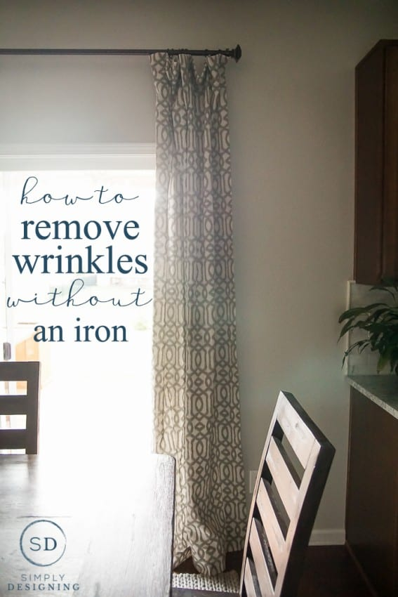 How to Remove Wrinkles from Curtains without an Iron - such an easy trick that will save you so much time