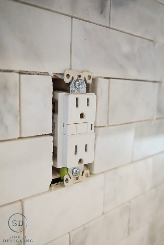 tile around outlets