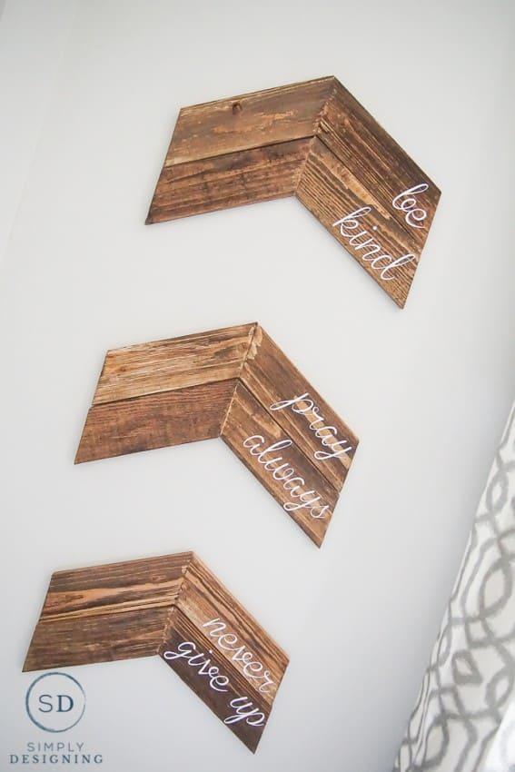 Customizable Chevron Arrow Wall Decor