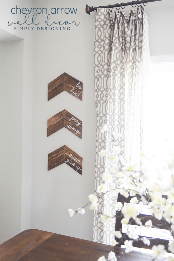 Customizable Chevron Arrow Wall Decor - a simple and beautiful way to decorate