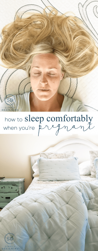 How to Sleep Comfortably While Pregnant - I am sharing my tips and tricks for getting a good nights sleep while prego