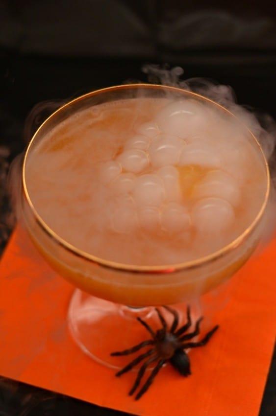Bloody Pumpkin Spooky Halloween Drink by Simply Darrling