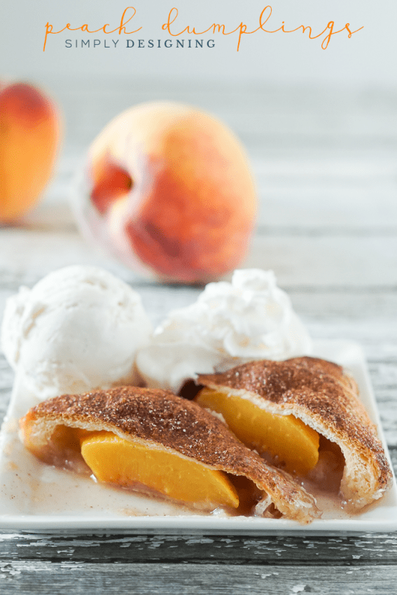 Easy Peach Dumplings Recipe