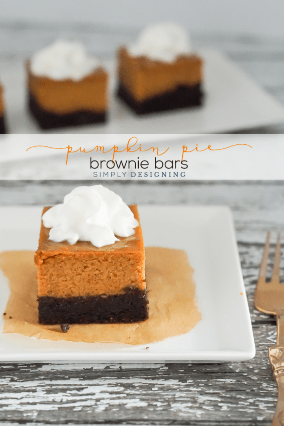 Easy Pumpkin Pie Brownie Bar