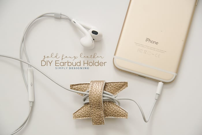 Leather DIY Earbud Holder