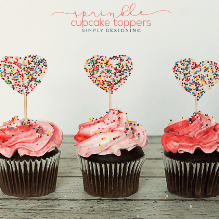 Sprinkle Cupcake Toppers