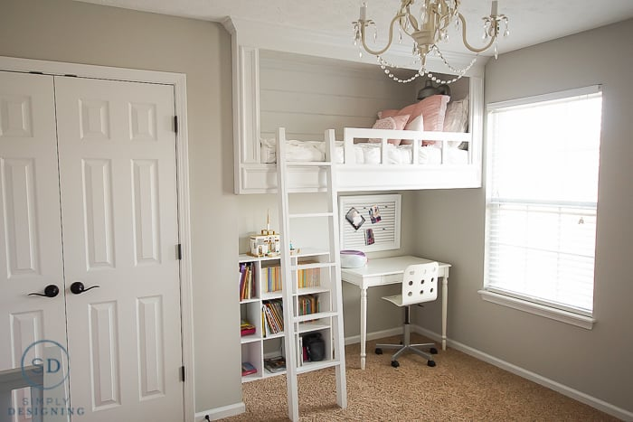 DIY White Loft Bed
