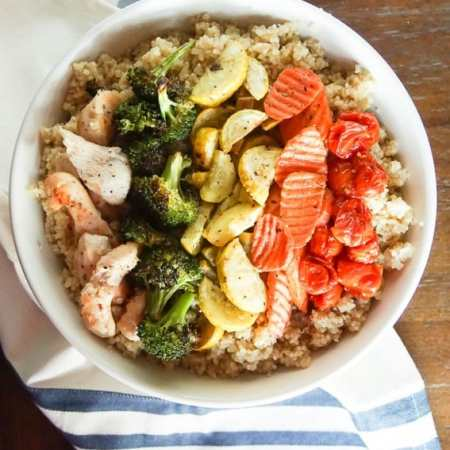 Healthy Quinoa and Vegetable Chicken Bowl