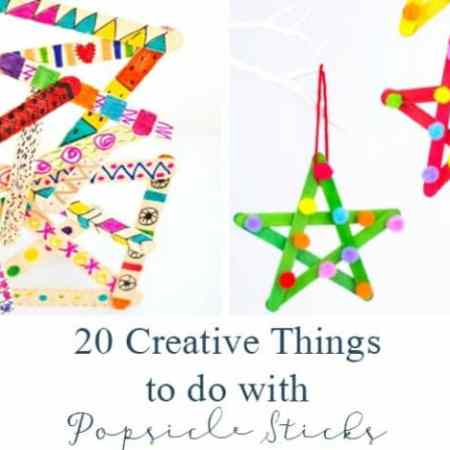 20 Creative Things to do with Popsicle Sticks