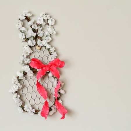 Floral Bunny Wreath