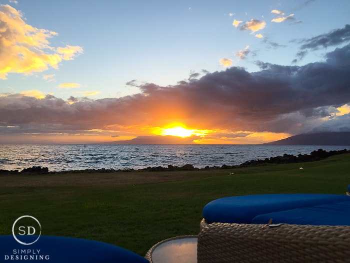 Sunset in Maui Hawaii