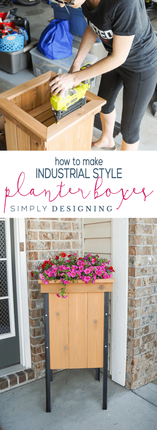 How to Make Industrial Planter Boxes in just a few steps