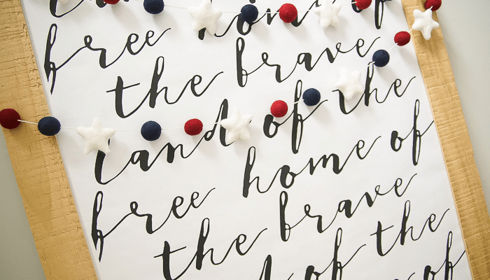 Free Patriotic Print made with Beautiful Typography