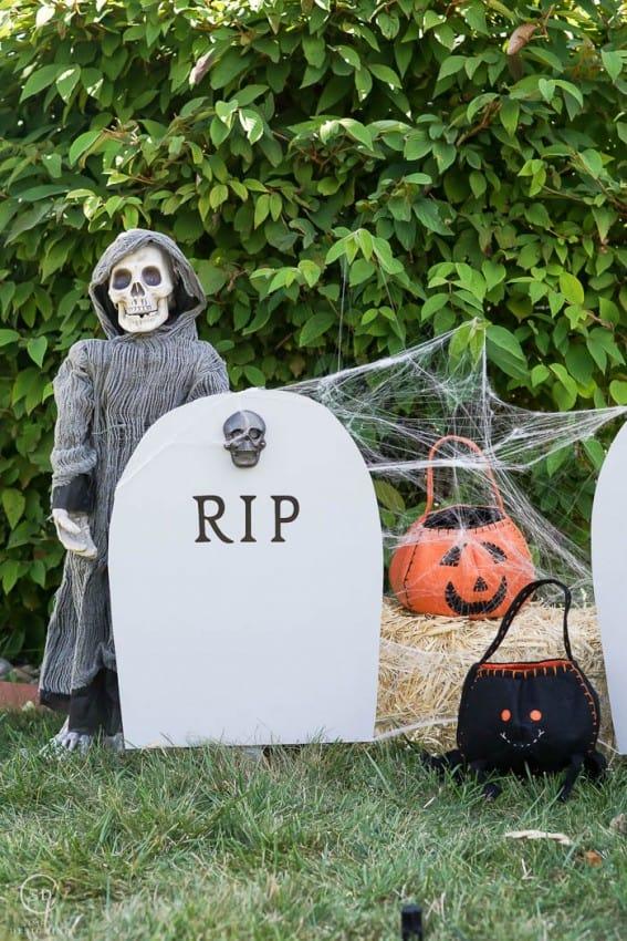 Headstone Halloween Decor
