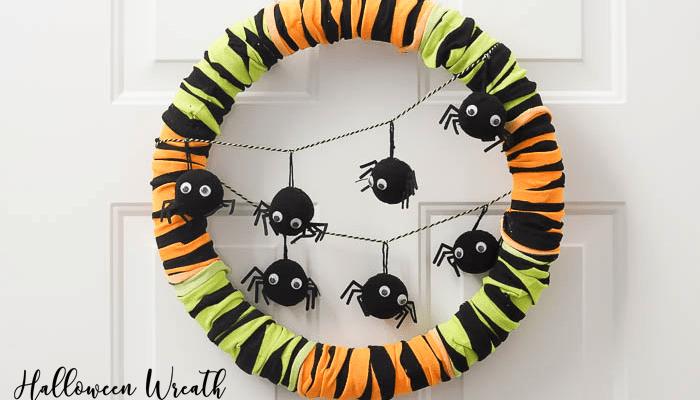 Halloween Wreath made with Dollar Spot Items