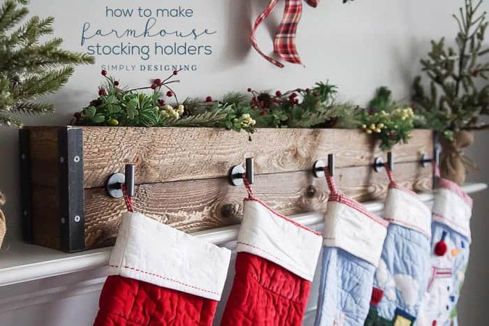 How to make Farmhouse Stocking Holders