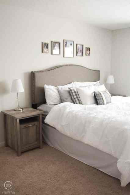 Cozy white master bedroom makeover