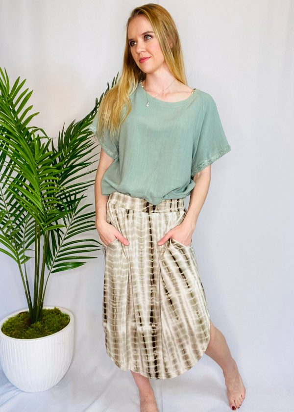 Tie Dye Skirt With Pockets