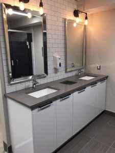 Kitchener cross fit change room vanity