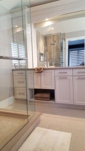 ideas and inspiration - bathroom storage, shower glass