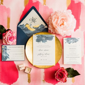 Watercolor Modern Wedding Inviation
