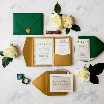 Buffalo Trace Wedding Invitation