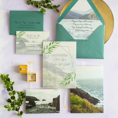 Ireland destination wedding Custom Designed Wedding Invitations