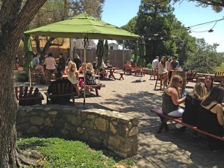 Dog friendly wineries Sonoma Valley Gundlach Bundschu patio Simply Driven