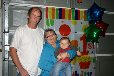 Tony and Jaquita at Colt's 1st birthday party. (2011)