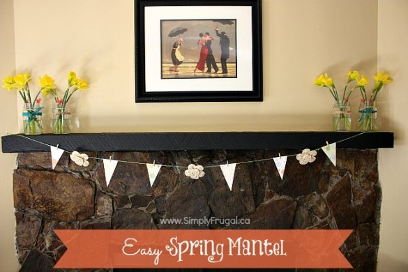 easy spring mantel 3