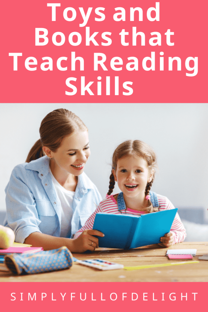 Toys and Books that teach Reading skills #earlyreader #learntoread #reading #teaching