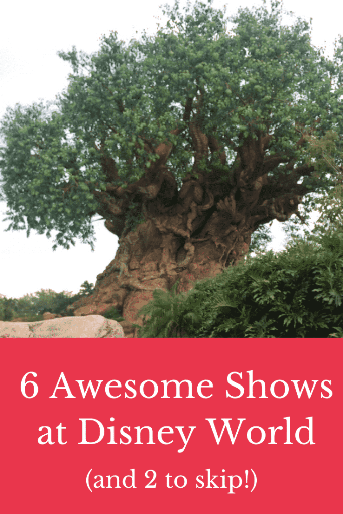 6 Awesome Shows at Disney World (and 2 to skip!)  Discover the best (and the worst) shows at Disney.  Advice on using Fastpasses and making the most of your time at Disney!  #disneyworld #disney #vacation