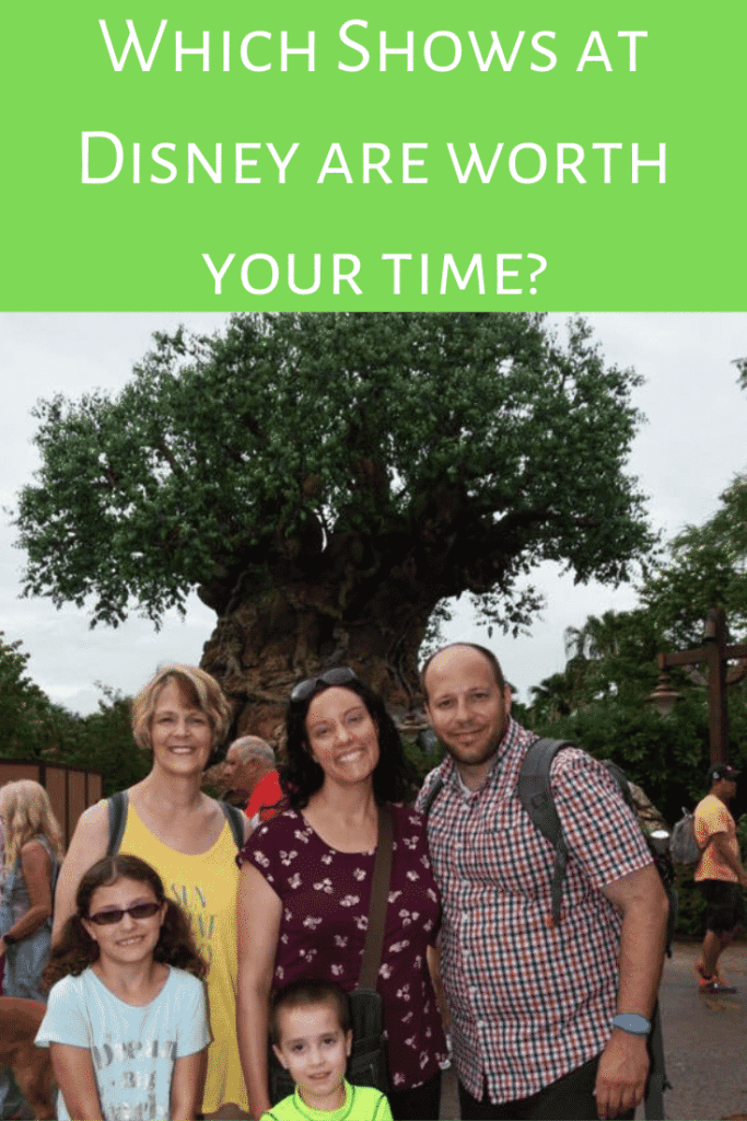 Which shows at Disney World are worth your time?  A review of the best (and the worst) shows at Disney!  #disneyworld #disneytripplanning #disneyshows