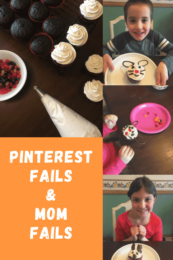 Pinterest Fails and Mom Fails - Life is messy, full of the unxpected.  #parenting #faith #inspiration