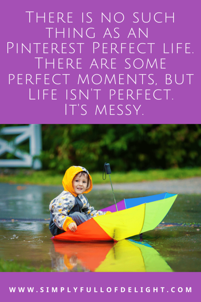 There is no such thing as a pinterest perfect life.  #pinterestfail #momlife #parenting #faith