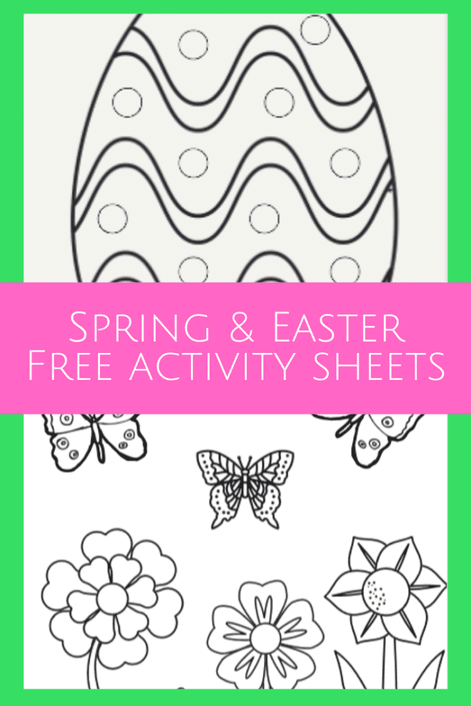 Spring and Easter Coloring pages and Activity sheets - Free printables!  Great for teachers, kids, and parents!  #easter #springcoloringpage #freecoloringpage